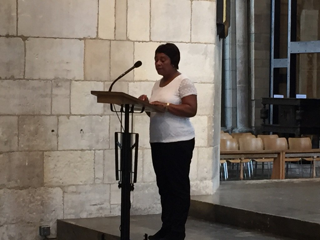 Doreen Lawrence introduces the new mayor. @itvlondon https://t.co/Ywm8QUflyC