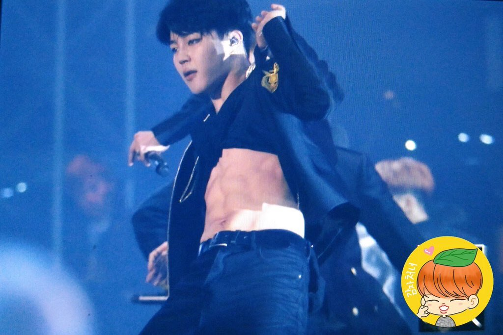 Bts Sg On Twitter Jimin Revealed His Abs During No More