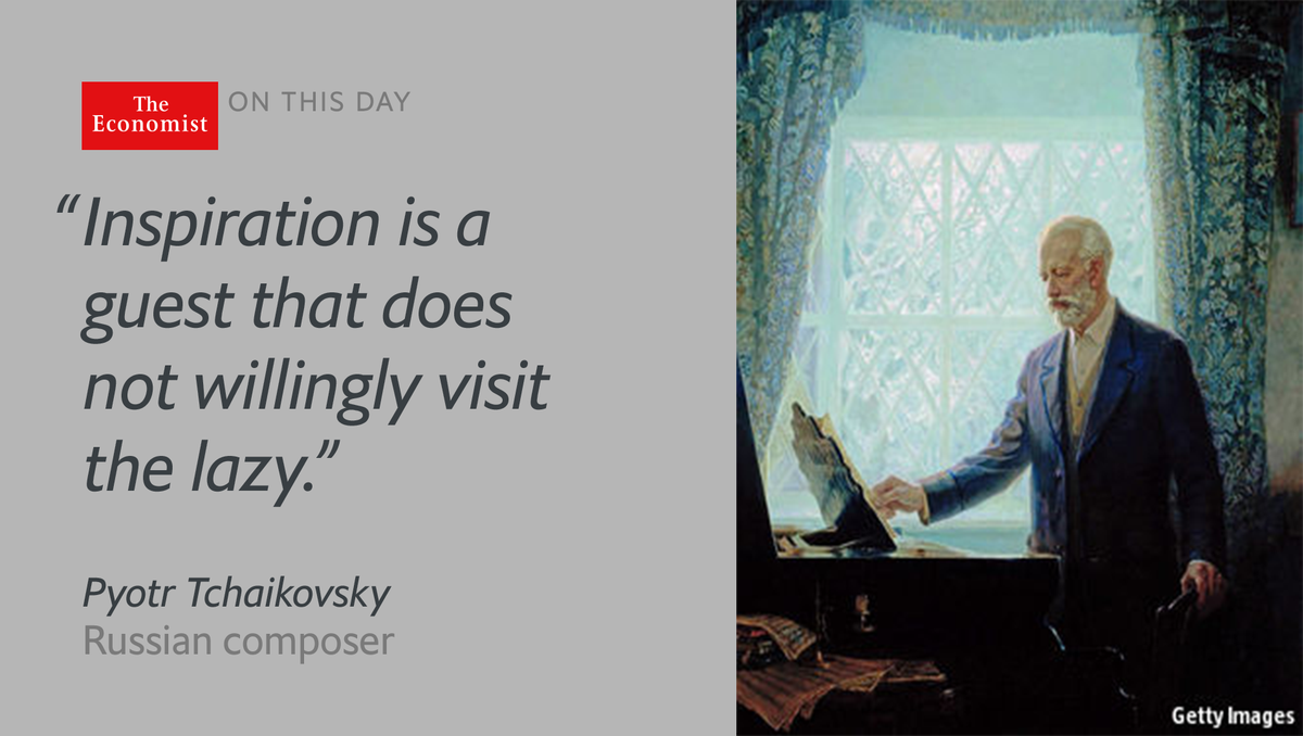 Pyotr Tchaikovsky—composer of 'The Nutcracker'—was born #onthisday 1840