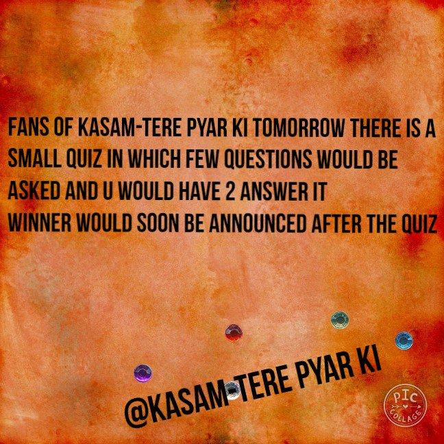 Kasam-Tere pyar ki (@Kasam__FC) | Twitter