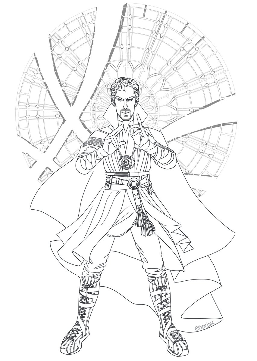 dr strange coloring pages Jackie on Twitter: