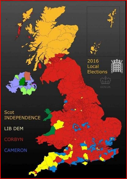 Why That Chart Demonstrating Jeremy Corbyns Election Success Is - Simpons us map vs real voters map