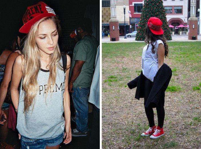 ストリート系のキャップを大人可愛く着こなそう♡ 夏におすすめのレディースキャップコーデ!可愛すぎない大人の着こなしとは? http//stylebook.me/supreme_cap/
