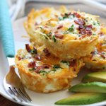 Image for the Tweet beginning: Hashbrown Egg Nests + Avocado