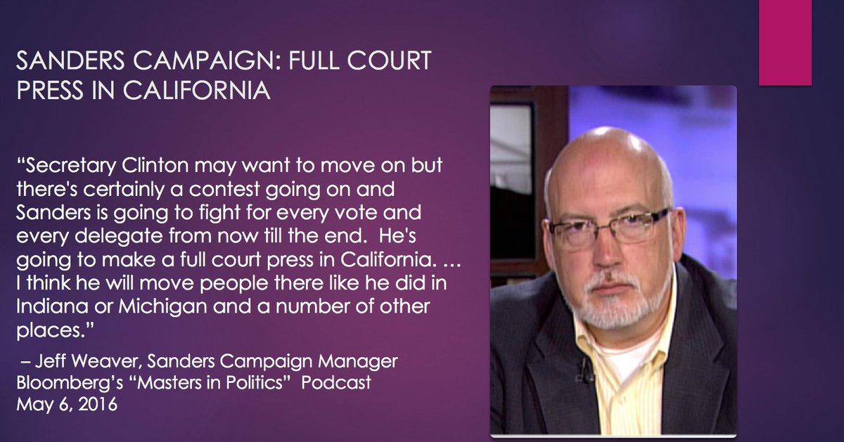 ".@BernieSanders will make ""a full court press in California"" https://t.co/FKMamfAgEc @bpolitics #MastersinPolitics https://t.co/IjVyRxmCoK"
