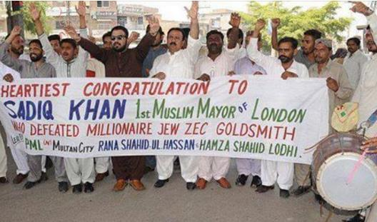 Hillary Clinton celebrates anti-semitic Muslim becoming London mayor