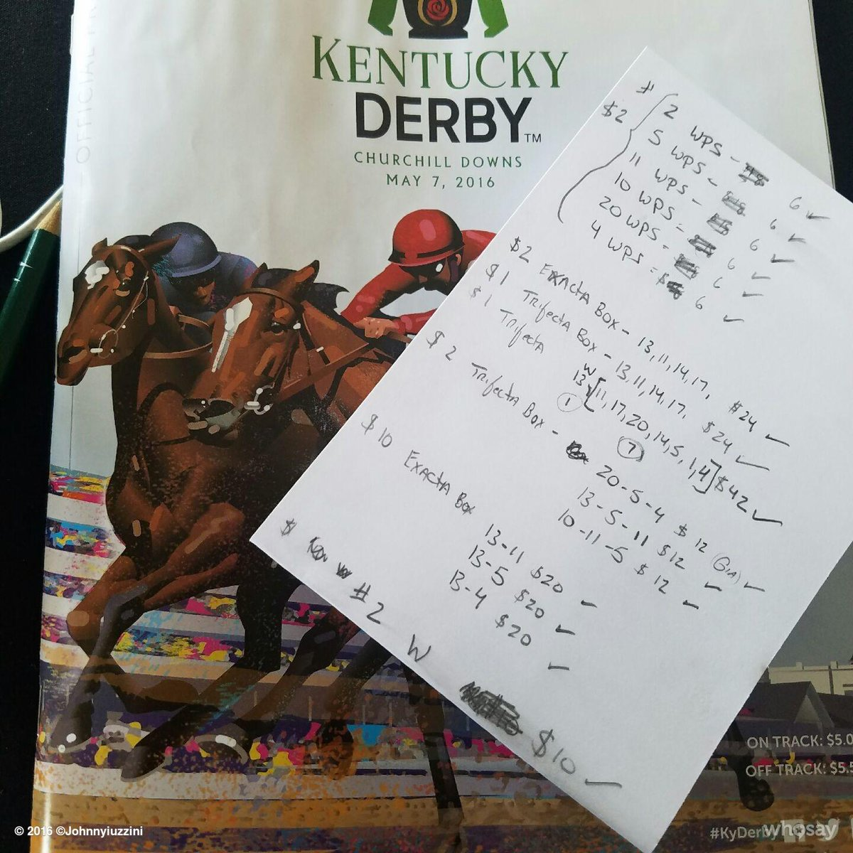 Our picks for the big race. Keep in mind I have no clue about horse racing. @kentuckyDerby #kyderby #tasteofderby https://t.co/5GgN5etdS8