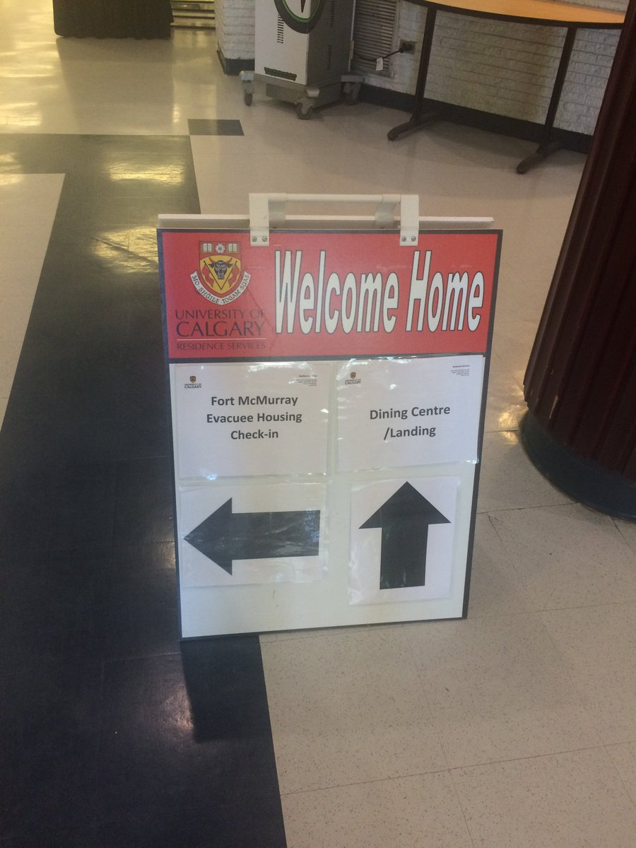 The University of Calgary is now home to 365 Fort McMurray evacuees. https://t.co/RRLjmJ1eXS