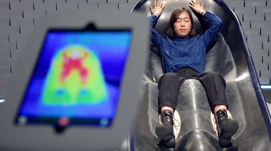 Nike showcases a stylish sports recovery chair that heats, cools your body