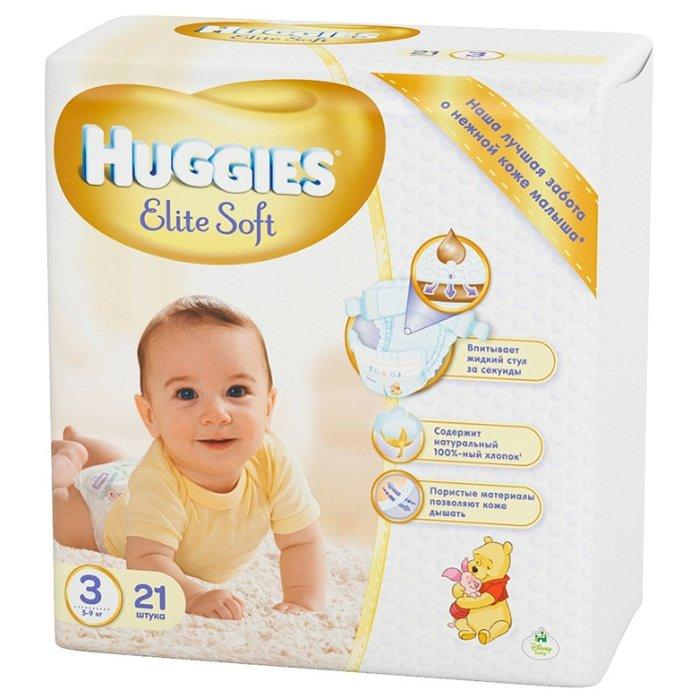 huggies подгузники elite soft 1 до 5 кг 84 шт