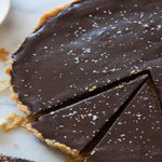 Image for the Tweet beginning: Salted Chocolate Tart with Kettle