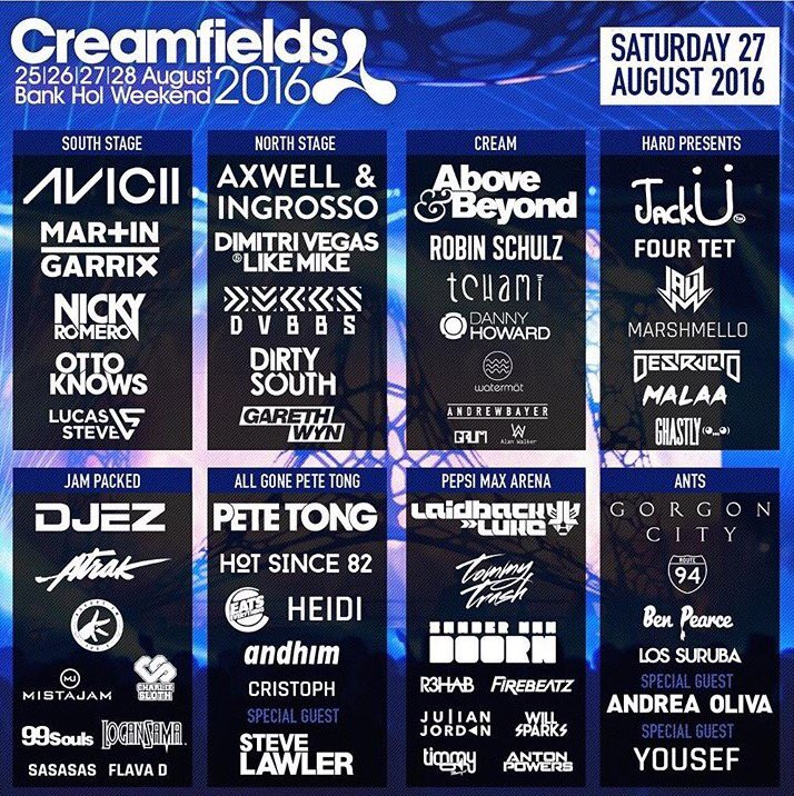 #Creamfields is gonna be mental