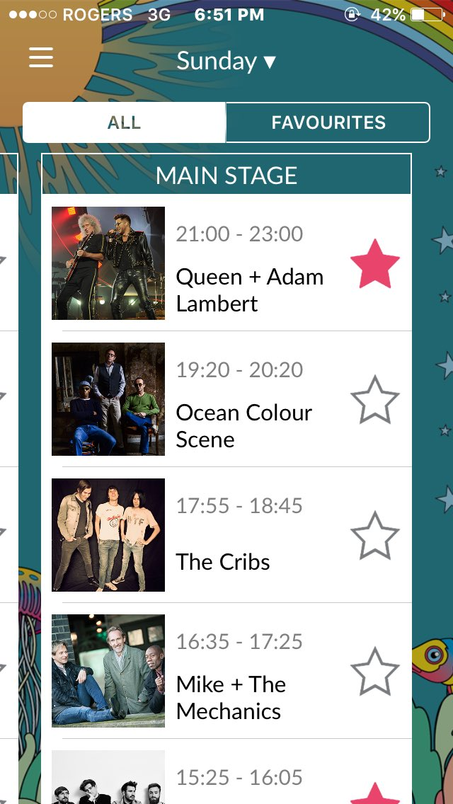 Isle of Wight Festival updated their app with times. QAL TWO HOURS!! Whoot. https://t.co/8P9s2z9E0F
