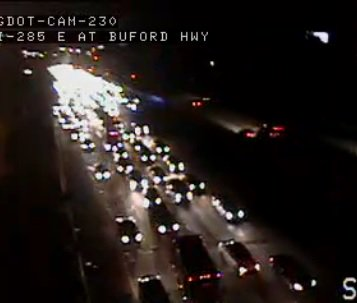 Accident i-285 eastbound i-85 dekalb co  use caution in the