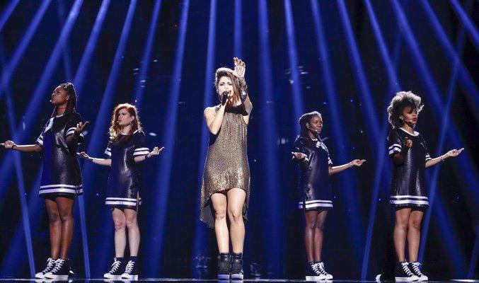 segundo ensayo de Barei en Eurovisión -4