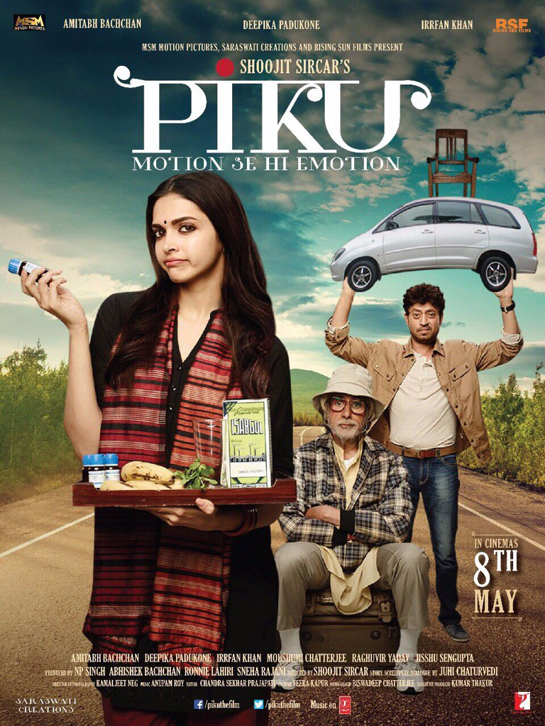 This day, a year ago #PIKU .. Thank you @SrBachchan @deepikapadukone @irrfan_k @ShoojitSircar @writeonj & many more! https://t.co/DkMdmxmRRp