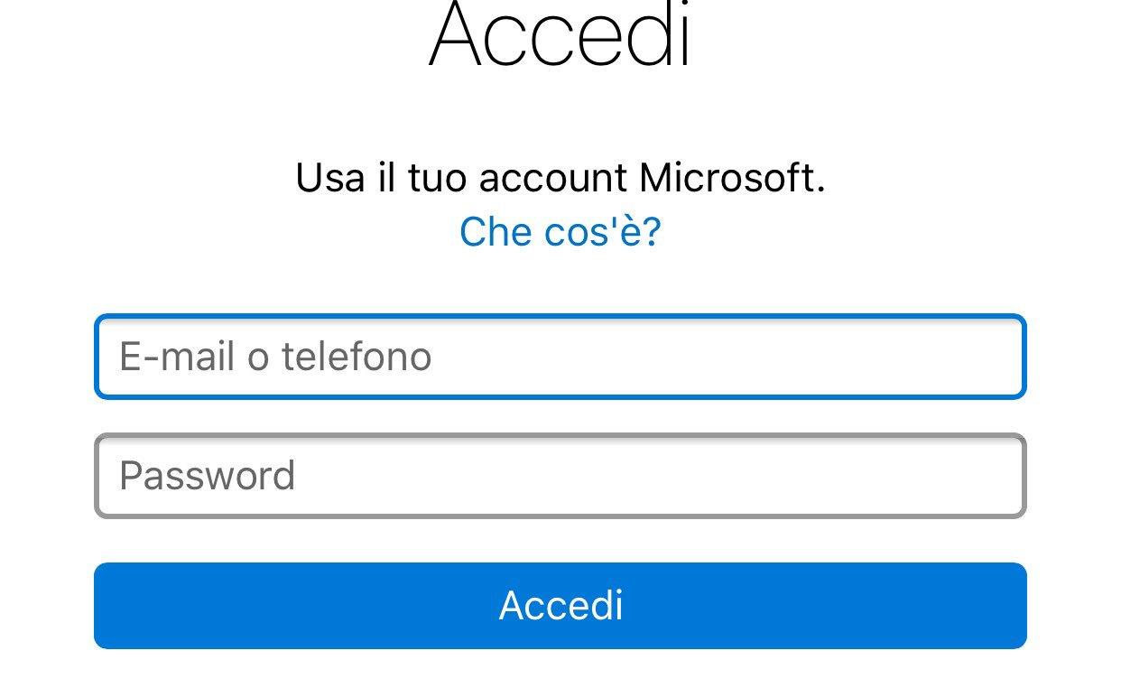 Cos'é un account?