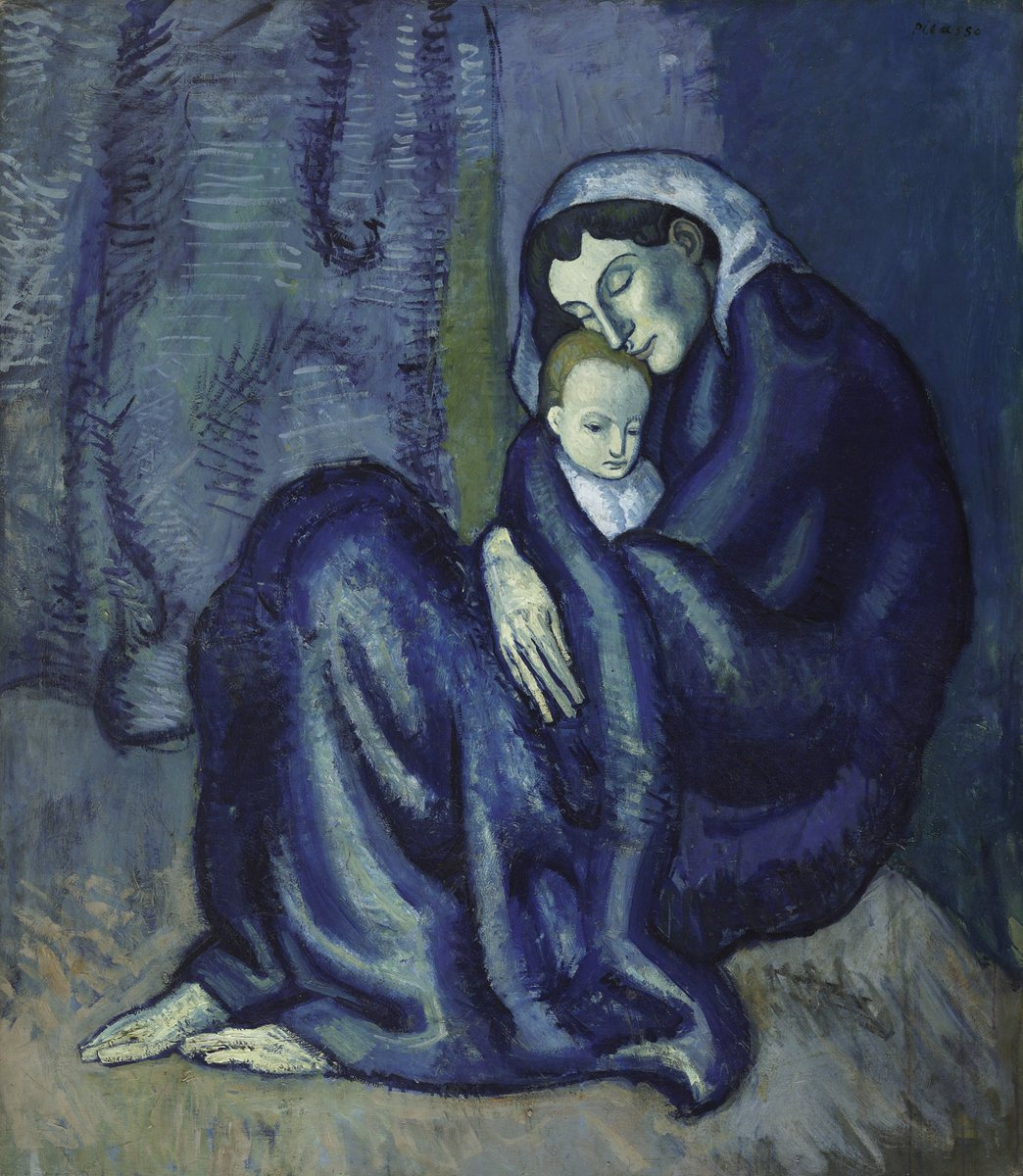 """Happy #MothersDay! Pablo #Picasso, """"Mother and Child (c.1901)."""" #blueperiod https://t.co/FhP2VbgEeF https://t.co/4xadvqu64x"""