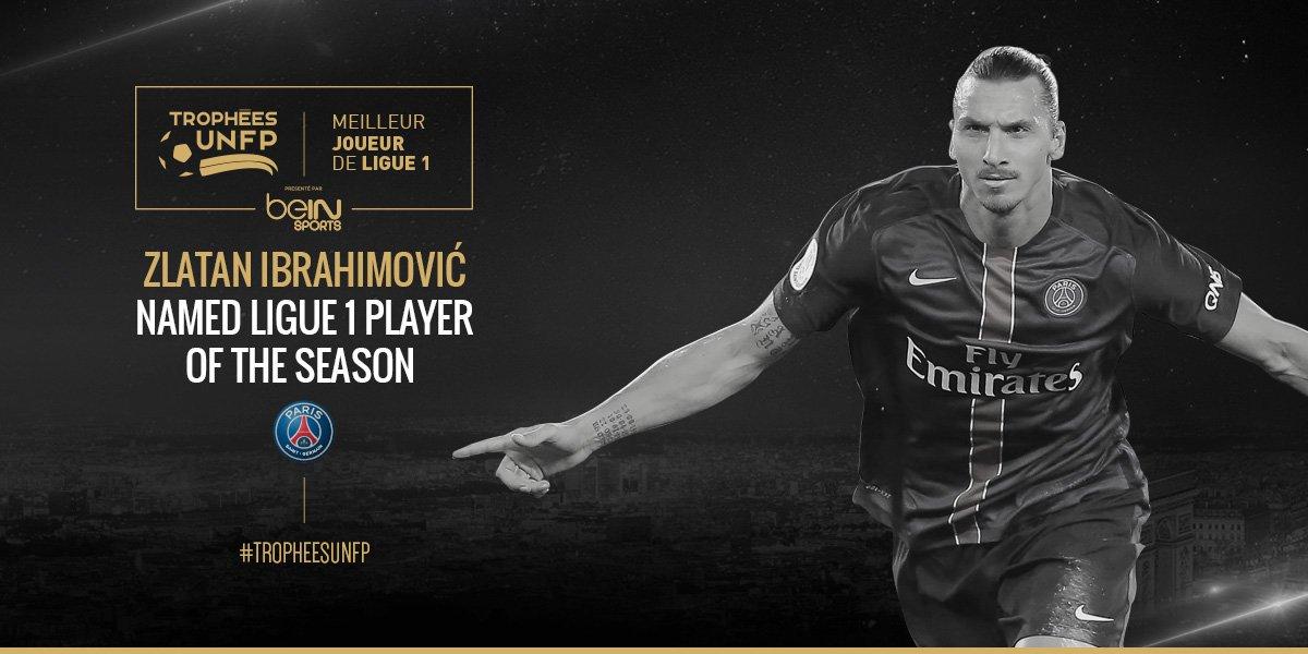 Trophées UNFP : Zlatan meilleur joueur… voici le palmarès complet