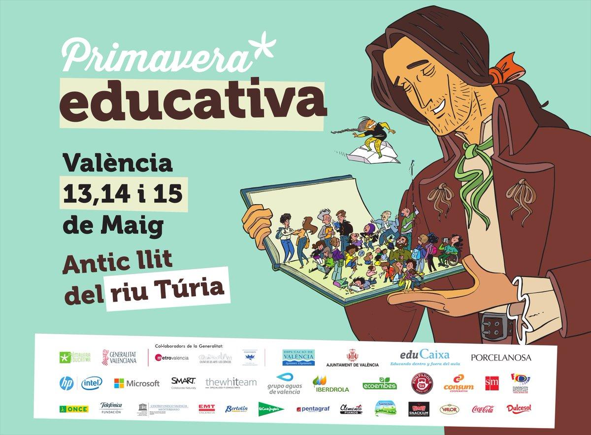 La #PrimaveraEducativa, se celebrarà el 13, 14 i 15 de maig a València, pretén fer visibles els projectes educatius. https://t.co/9lxmTvKnrB