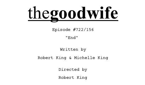 Cheers to 7 Seasons of #TheGoodFans #TheGoodFriends and the family we created with #TheGoodWife Tonight on #CBS