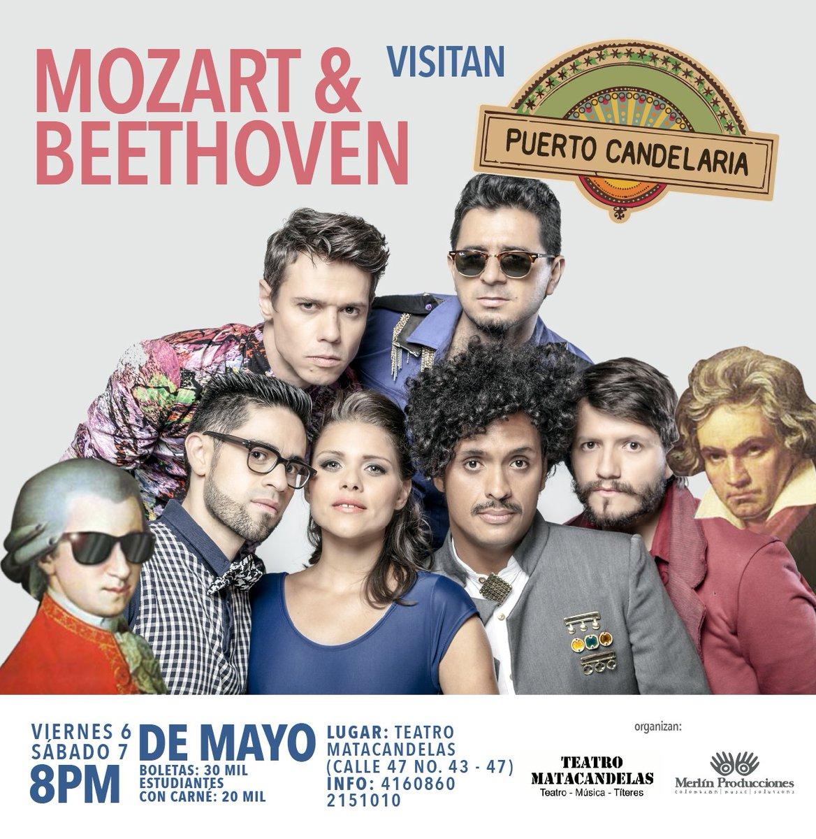 ¡El 6 y 7 de mayo las obras clásicas de Mozart y Beethoven tomarán otro color en el @matacandelas! https://t.co/VRNT6vgs0f