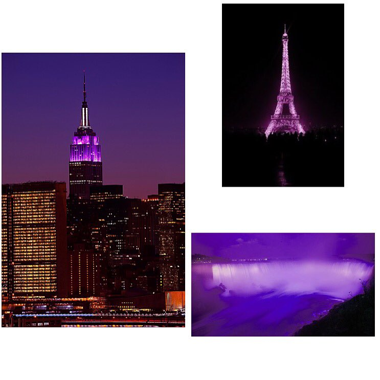 In remembrance of the #Prince, the #EmpireStateBuilding  #niagarafalls & #eiffeltower lit up in purple! https://t.co/boFNpt0JhL