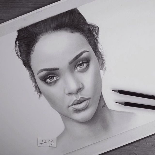 how to draw rihanna step by step with pencil slowly