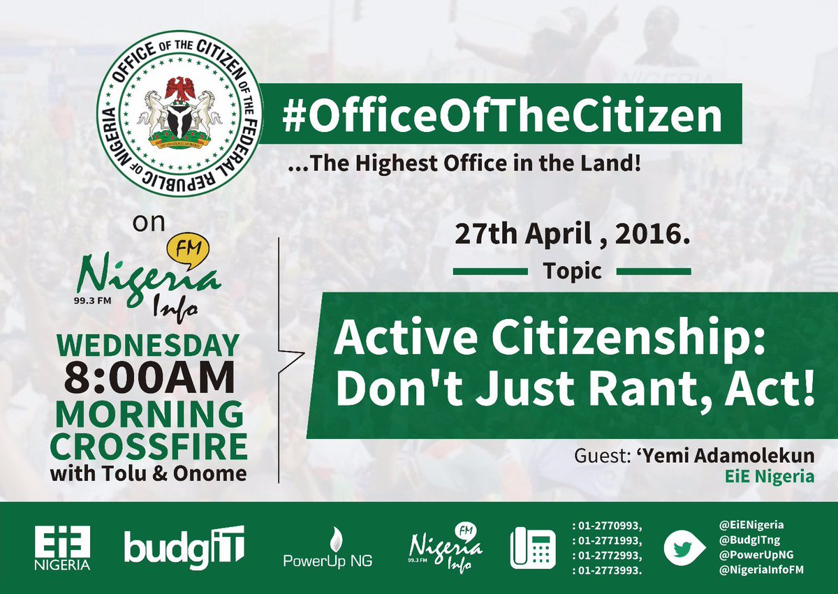 Thumbnail for #OfficeOfTheCitizen - Active Citizenship: Don't Just Rant, Act!