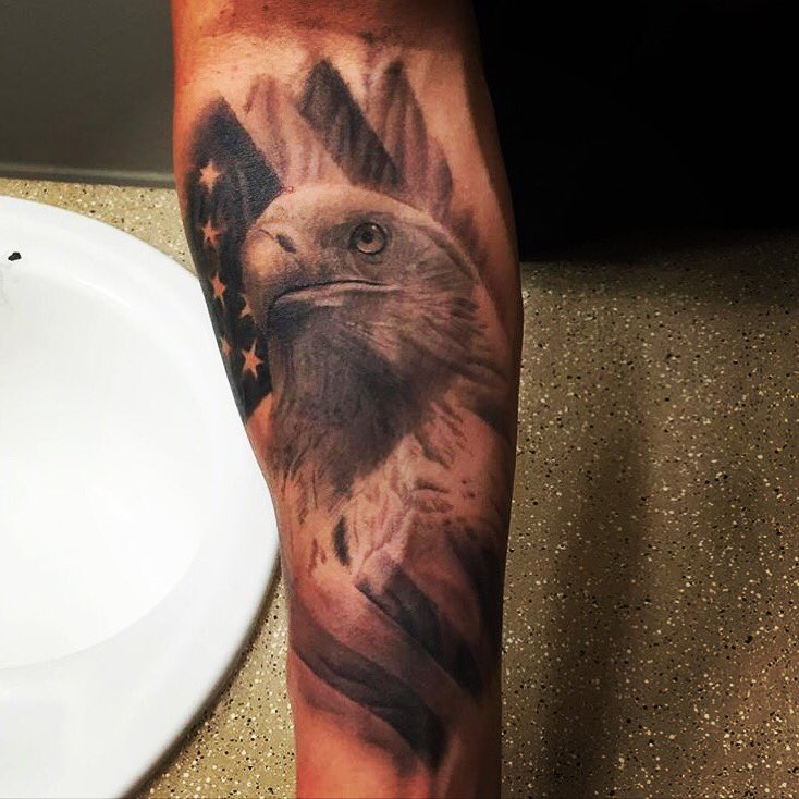 Patriotink On Twitter Awesome Detailed Americanflag Eagle