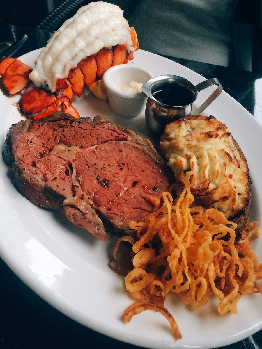 Twitter post: RT @gastrofork: Prime rib and lobster with @TheKeg…Read more. Opens full post in an overlay