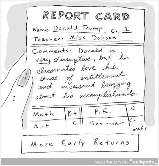 Alexander On Twitter Donald Trump Report Card New Yorker