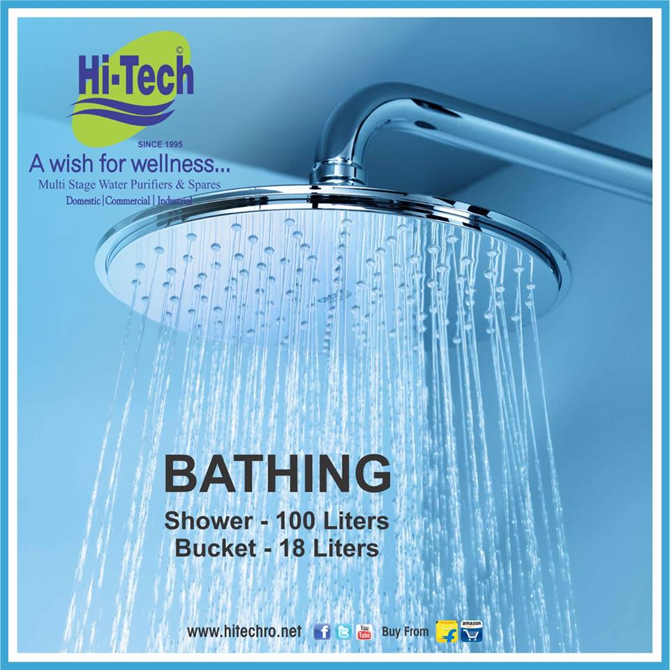 Hi tech on twitter saving water is as easy as making a - Which uses more water bath or shower ...