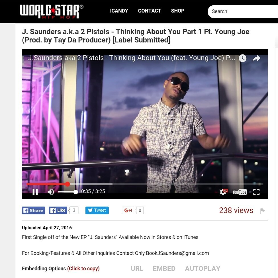 My new video #ThinkingAboutYou is live on @Worldstar! Check it out!!! https://t.co/0AFnptT2Tt https://t.co/UA1CF1KFa0