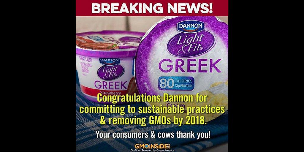BREAKING!  @Dannon's new supply promotes #animalwelfare, #nonGMO feed, and #soil! https://t.co/Lr5IGuxg1r #yogurt https://t.co/qgY2746nFd