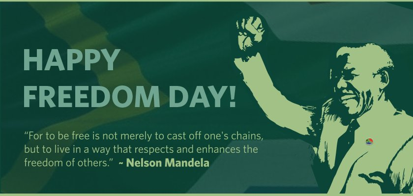 The 27th of April marks the day on which our first democratic elections were held in 1994 #FreedomDay #CityPower https://t.co/FPN8uE0wXr