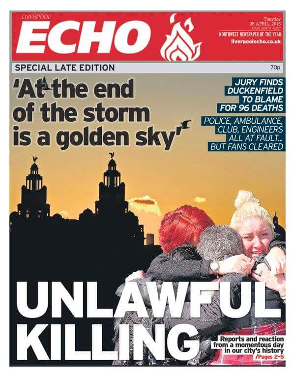 'At the end of the storm is a golden sky' #JFT96 https://t.co/gMMsS6u4tn