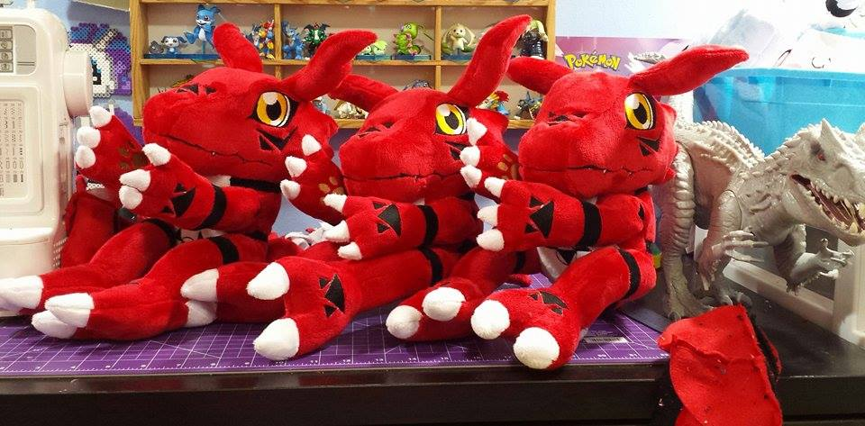 Roany 39 s collectibles on twitter handmade digimon guilmon plush will be roanysgaming anime - Www living hall digion ...
