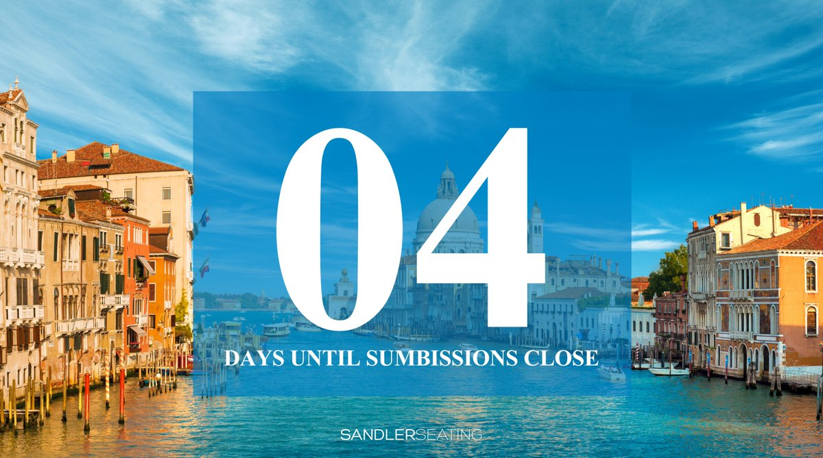 Only four days left to submit your designs. Time is ticking! - https://t.co/9Tgze6VEpT #Competition #Design