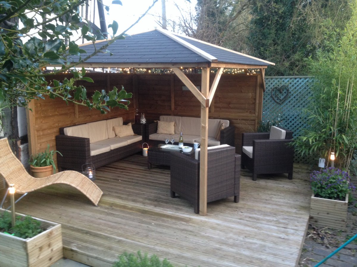 Dunster House Ltd On Twitter Colins Gazebo Finishes Off His Garden And Provides Shelter Shade Style The Fairylights Are A Fab Finishing Touch