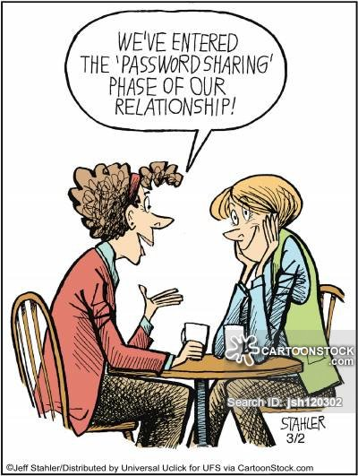 Sharing passwords with spouse