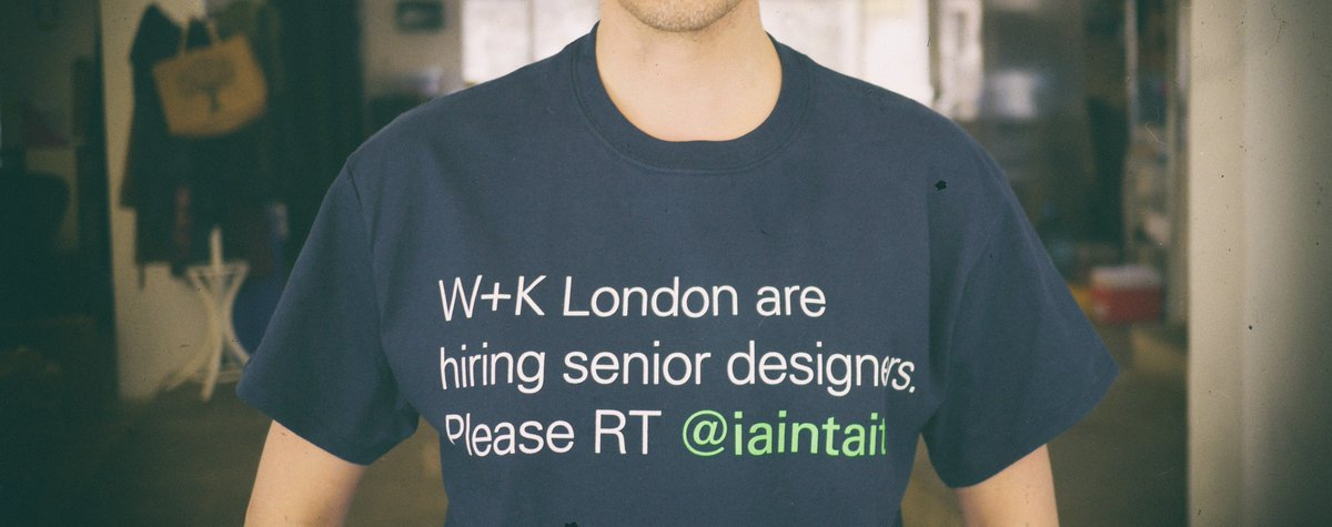 Why we're so desperate to hire designers I'm wearing this stupid t-shirt... https://t.co/oMz9GP6EXE @CreativeReview https://t.co/WtkdjuhlH3