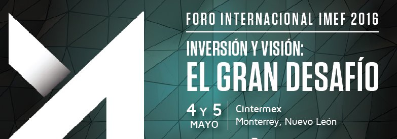 Conoce a los conferencistas del Foro Internacional IMEF 2016: https://t.co/xrk9rhnRXa https://t.co/gJfNQusbM1