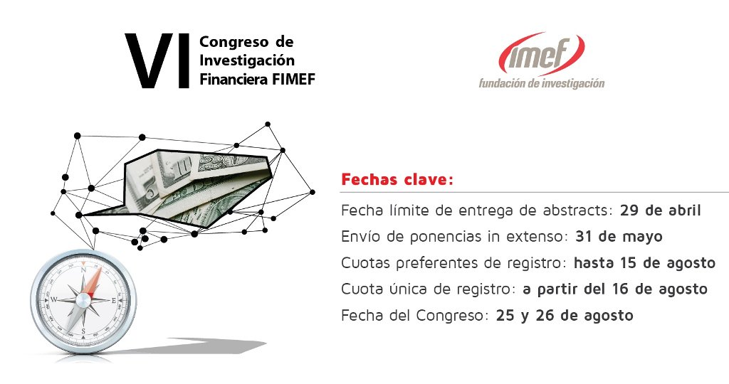 Toma nota de las fechas clave del #CongresoIMEF 2016 https://t.co/HVQB2lv8ej https://t.co/u5Bj9GUjRb