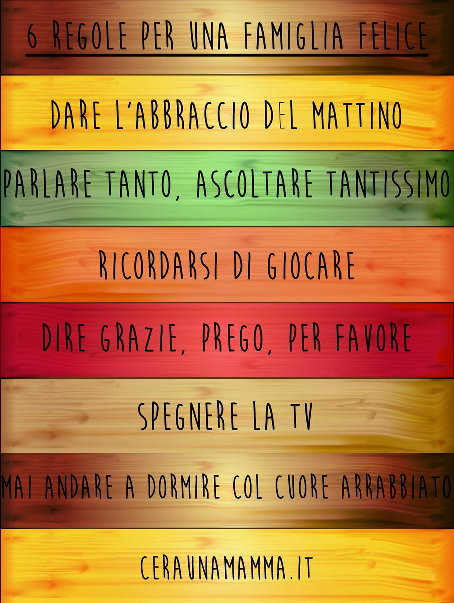 """Bien connu Daniela Zepponi on Twitter: """"6 regole per una #famiglia felice  AV43"""