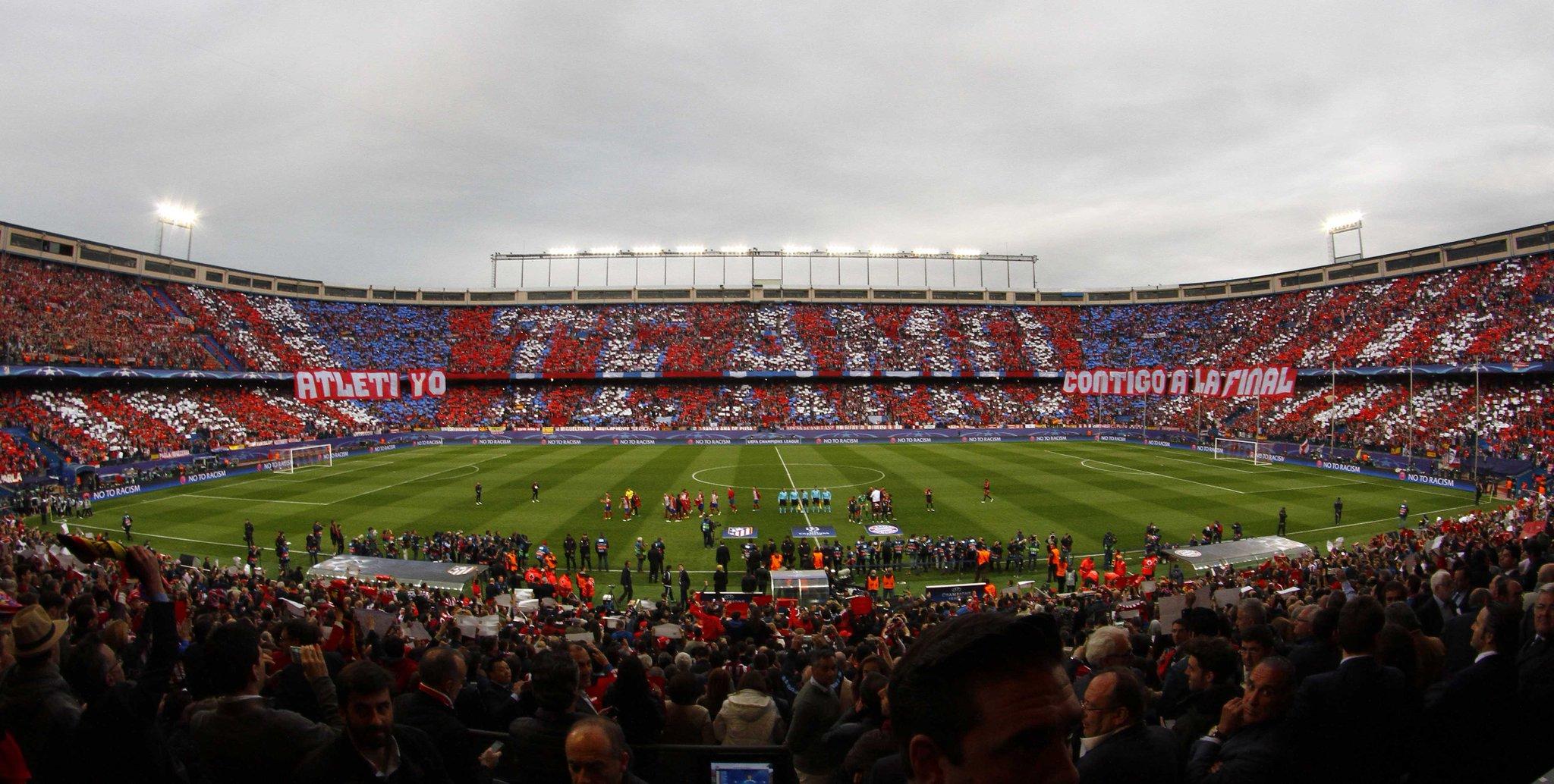 Te Amo. Яркие трибуны Висенте Кальдерон перед матчем Атлетико - Бавария - изображение 1