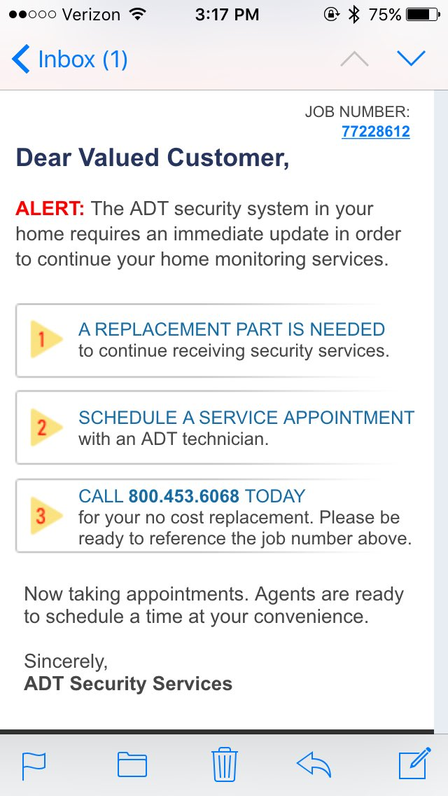 @ADTSECURITSVC How many times do you have to be told? I cancelled service weeks ago!