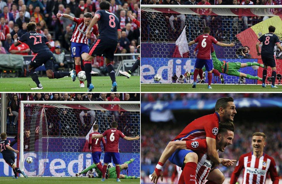 Atletico Madrid Bayern Monaco 1-0 Video, strepitoso gol di Saul Niguez alla Maradona del 27 aprile 2016