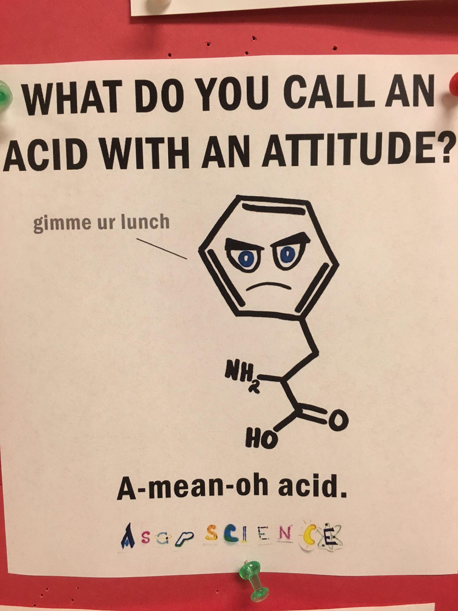puns science chemistry biochemistry