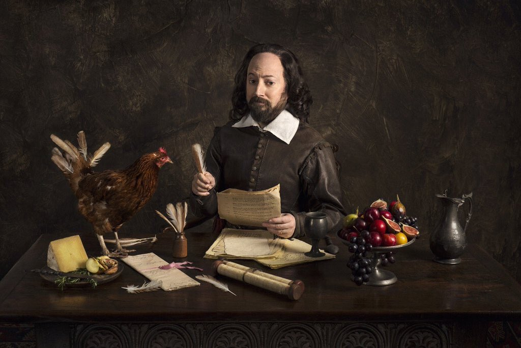 Upstart Crow, BBC2's bard-based sitcom starring @RealDMitchell & by Ben Elton & produced by me begins on May 9th! https://t.co/hA8TpH2i7w